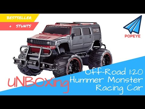 Off-Road 1:20 Hummer Monster Racing RC Car / Truck | STUNTS |BESTSELLER TOY | UNBOX | RC With Popeye