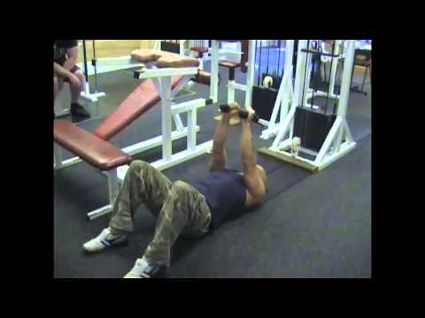 Lying On Floor Tricep Extension rope extension