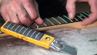 Scalloping a Strat Neck