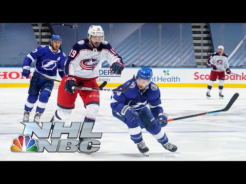 NHL Stanley Cup First Round: Blue Jackets vs. Lightning | Game 1 EXTENDED HIGHLIGHTS | NBC Sports