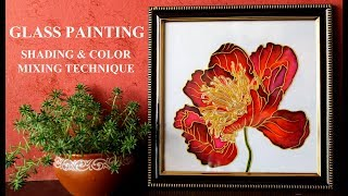 GLASS PAINTING Shading & Color Mixing Technique