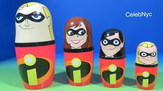 The Incredibles Kinder Surprise Stacking Cups Hidden Surprise Eggs Disney Opening Unboxing