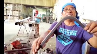 how to bend square tube by machine and by hand / tagalog tutorial