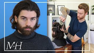 Mens Long Haircut And Hairstyle | How To Cut & Style Long Hair
