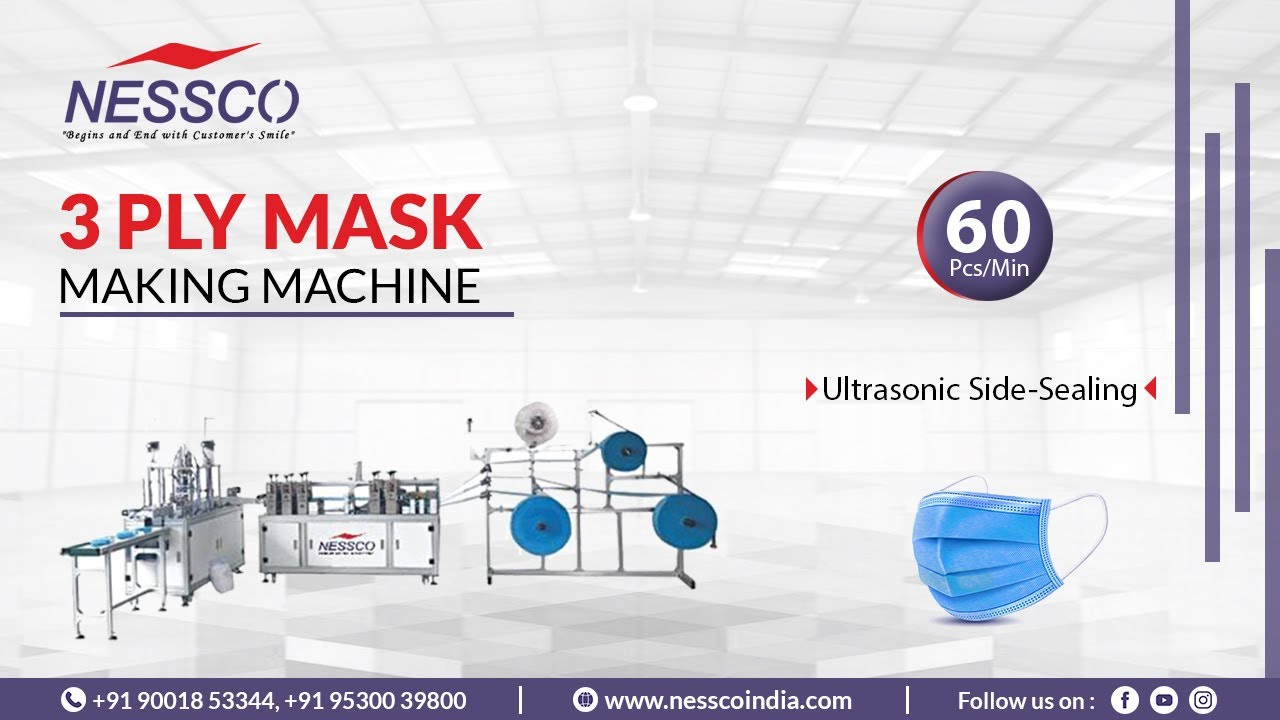 3 PLY Face Mask Making Machine   Surgical Masks   Nessco