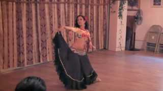"""Flamenco Belly Dance fusion to """"Malaguena Moods"""" ~ Sira Belly Dancer NYC"""