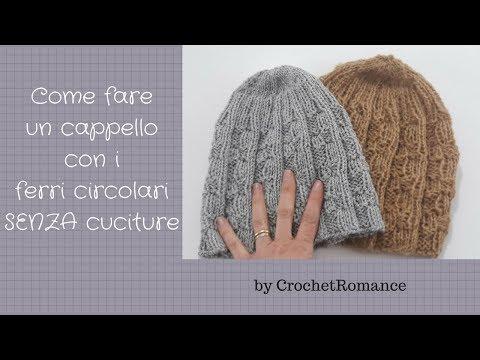 Cappello uomo e donna a maglia con i ferri circolari - Modello Knit Me More