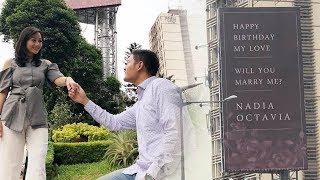 Dilamar Pakai Papan Reklame, Nadia: Mas Adya Memang Suka Beri Kejutan