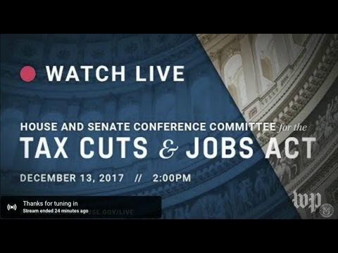 House and Senate Republicans hold a meeting on the 'Tax Cuts and Jobs Act'