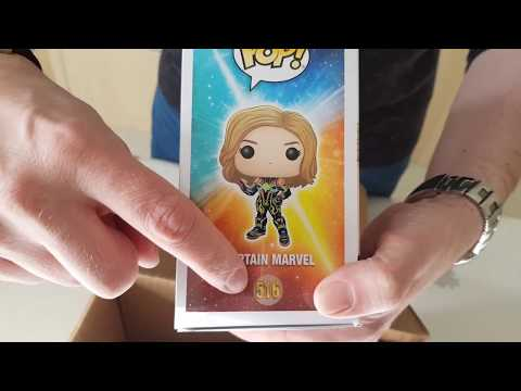 FUNKO POP CAPTAIN MARVEL ( POP IN A BOX )PACK UNBOXING.🇫🇷📦😄💪