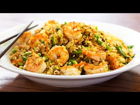 Shrimp Fried Rice Recipe on the Weber Master Touch Kettle Grill