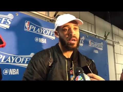 JaVALE McGEE, Golden State Warriors (3-0) postgame, Game 3 vs Portland Trail Blazers
