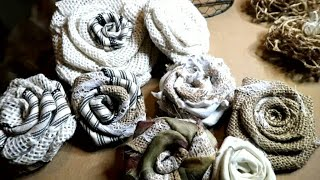 💝🌼💮How To Make💮Burlap Flowers 💮🌸: Rustic, Shabby Chic, French Counry, Farmhouse, Old Cottage💮