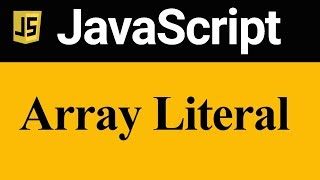 Declaration and Initialization of Array using Array Literal in JavaScript (Hindi)