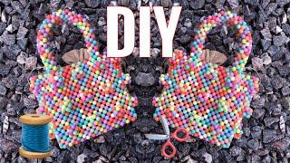 DIY SHRIMPS ANTONIO MINI BAG (1/3) HOW TO MAKE A PEARL BEAD BAG  || BYWINNIE