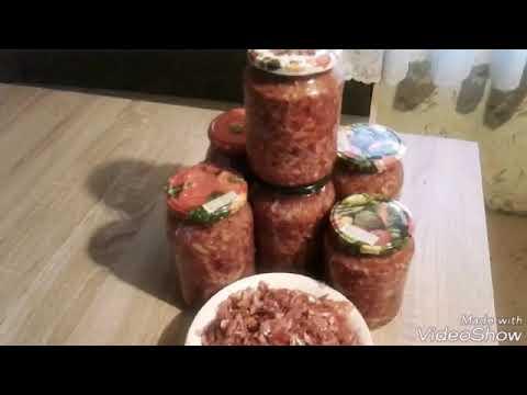 Заготовки на зиму - салат из синей капусты (без стерилизации)