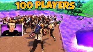 *100 PLAYERS* BOUNCING IN NEW LOOT LAKE - Fortnite Funny Fails & WTF Moments 2018