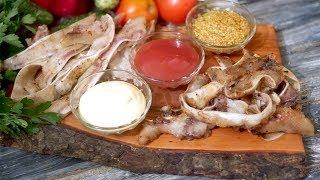 Как приготовить свиные уши к пиву - рецепт маринования и жарки