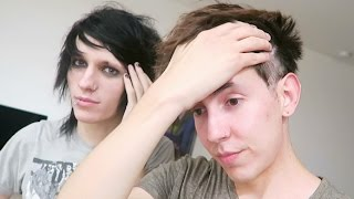 SHAVING OUR HEAD AND EYEBROWS (BEHIND THE SCENES) feat. JOHNNIE AND ALEX