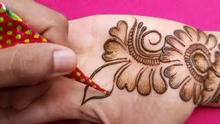 Arabic Shaded Mehndi Designs || Amazing Arabic Henna Mehndi || Bharma Full Hand New Mehndi Design