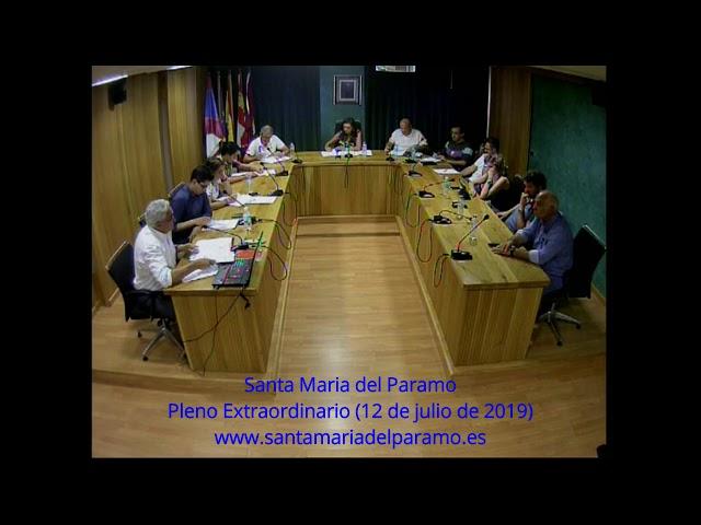 Pleno Extraordinario (12 de julio de 2019)