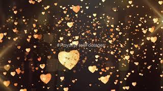 golden heart motion background loops | Golden hd motion background video | golden particles overlay