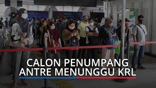 Terapkan Protokol Kesehatan, Calon Penumpang di Stasiun Pasar Minggu Tak Dapat Masuk