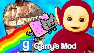 Gmod TELETUBBY NYAN CAT DINOSAUR Mod! (Garry's Mod)