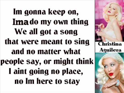 Christina Aguilera - Here To Stay (Lyrics On Screen)