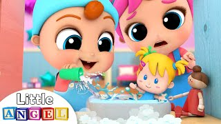 Baby Brother Learns to Play with the Dollhouse | Little Angel Kids Songs & Nursery Rhymes