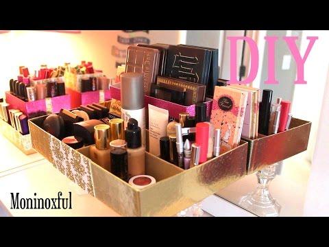 DIY Organizador sencillo para Maquillaje - Reciclaje