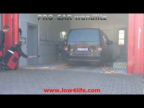 VW Bus T5 Multivan V6 auf dem Leistungsprüfstand mit Klappenauspuff (offen), Dyno Run