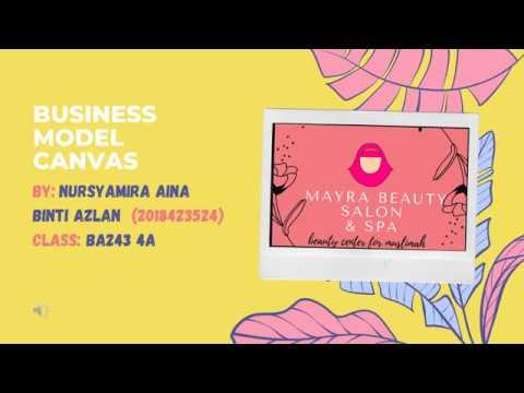 , title : 'BUSINESS MODEL CANVAS (BMC) MAYRA BEAUTY SALON & SPA  | NURSYAMIRA AINA BINTI AZLAN, BA243 4A