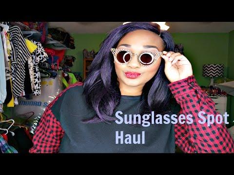 Sunglasses Spot Haul, Review & Try On   $5 Cheap Designer