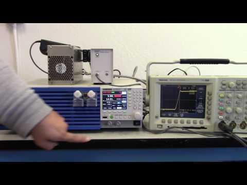 Video of Kikusui PLZ1205W DC ELectronic Load - Fast Slew Rate Demo - 60A/μs
