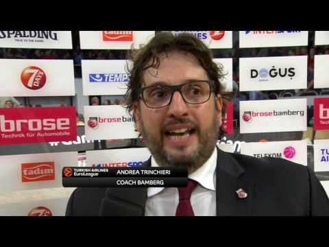 Post-game interview: Coach Trinchieri, Brose Bamberg