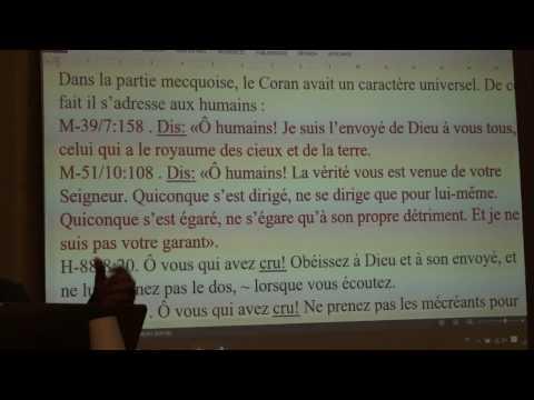 Importance de l'ordre Chronolique des trois Livres Sacrés : Sami El Deeb