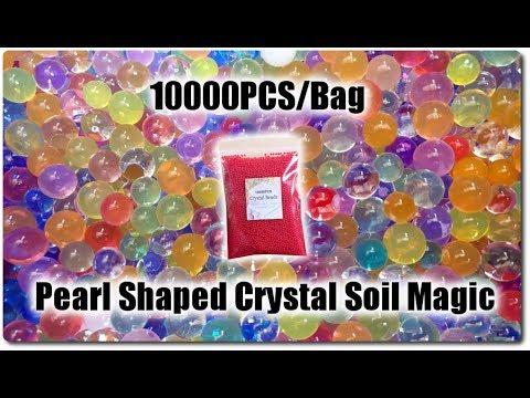 Banggood   REVIEW   10000PCS/Bag Pearl Shaped Crystal Soil Magic (9-11mm) (red color)Banggood   REVIEW   10000PCS/Bag Pearl Shaped Crystal Soil Magic