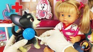 Лечим питомцев! Кукла ВЕТЕРИНАР Bambolina ЛОЛ сюрприз и CUTESY PETS Play BABY Обзор игрушек