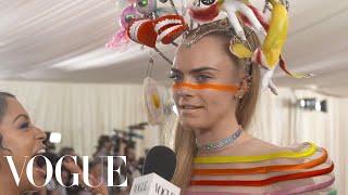 Cara Delevingne On Her Over-The-Top Met Gala Look   Met Gala 2019 With Liza Koshy   Vogue