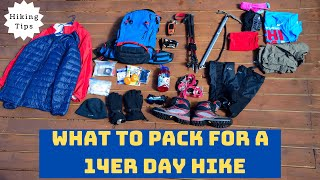 Hiking Tips: What to Pack for a Colorado 14er Day Hike