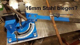 Ich teste meinen neuen Winkelbieger | Metallkraft WB 100 | schafft er die 16mm?