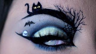 HAPPY HALLOWEEN | Halloween Eye Art Makeup Tutorial | RawBeautyKristi