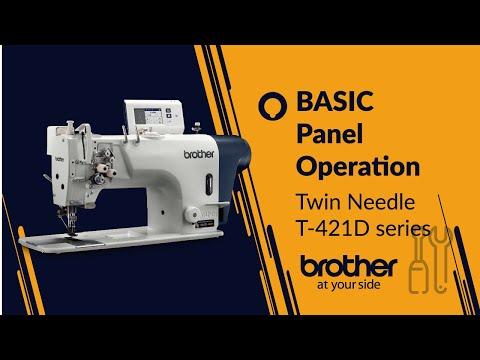 Twin needle lockstitch - Basic panel operation