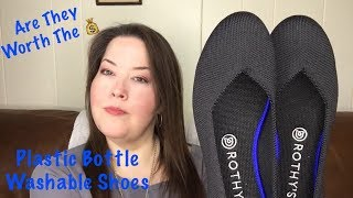 Rothy's Unboxing Try-on And Wear Review / Rothys Recycled Plastic Washable Shoes