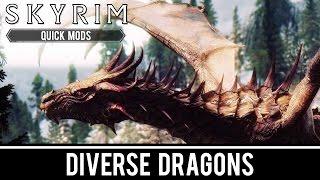 Skyrim Special Edition Mods: Diverse Dragons