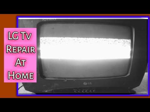 crt tv half screen problem   crt tv horizontal line problem