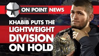Khabib Puts The Lightweight Division On Hold, Diaz Vs The UFC, Lesnar's Drug Test Goes Missing
