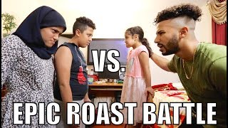 EPIC ROAST BATTLE WITH MY FAMILY!!!