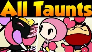 Super Bomberman R All Victory, Taunts & Special Dialogue | All Secret Characters + Pretty Bomber